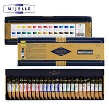 Mijello золото 24 цвета акварель высокая концентрация натуральный