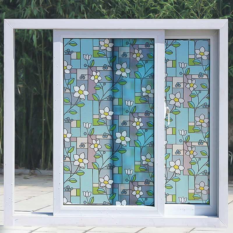 1PC 45x100cm Creativo Variopinto di Auto-adesivo Finestra di Vetro Adesivi IN PVC Decorativo di Vetro Smerigliato Opaco Finestra pellicola di vetro Adesivo