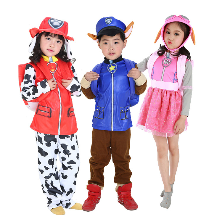New Kids Carnival Clothing Children Patrol dogs Marshall Chase Skye Cosplay Costume Halloween Party Role Play