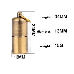 Image 5 - Mini Compact Kerosene Lighter Capsule Gasoline Lighter Inflated Key Chain Lighter Grinding Petrol Wheel Lighter Outdoor Tools