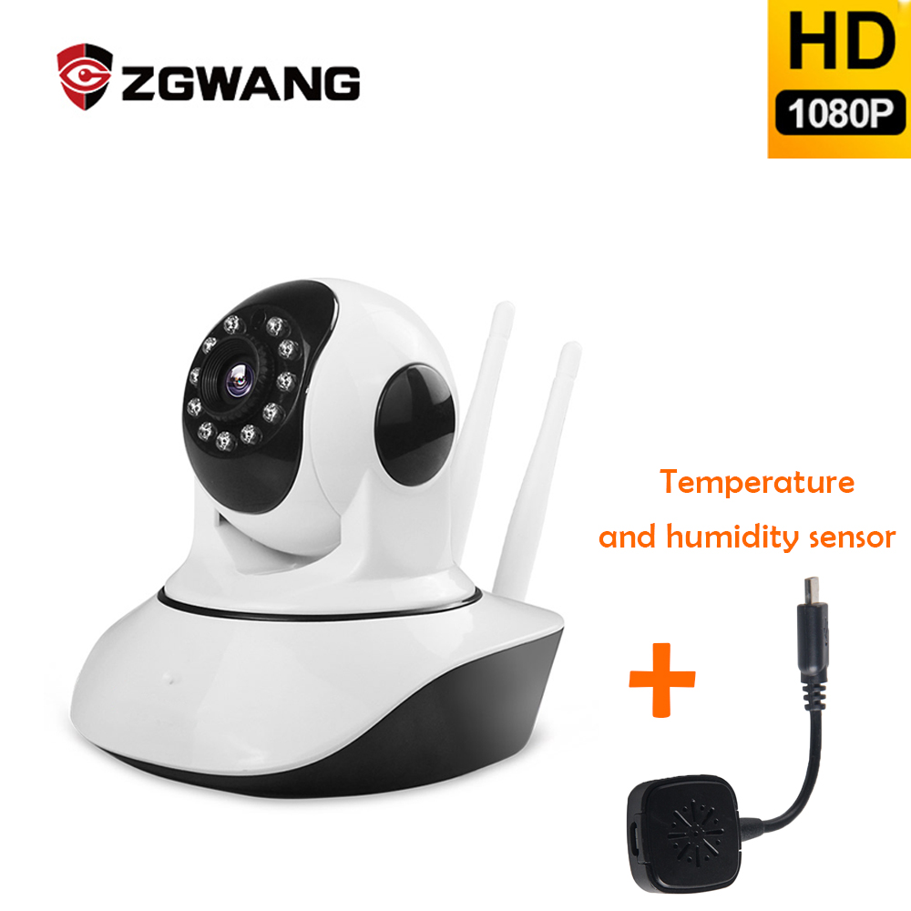 ZGWANG 1080P CCTV Camera IP HD WIFI Infrared Security camera Motion Detection Home Security 360 video Camera ip cam With sensor