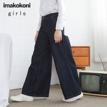 Комбинезон imakokoni джинсовый оригинальный дизайн съемные японские