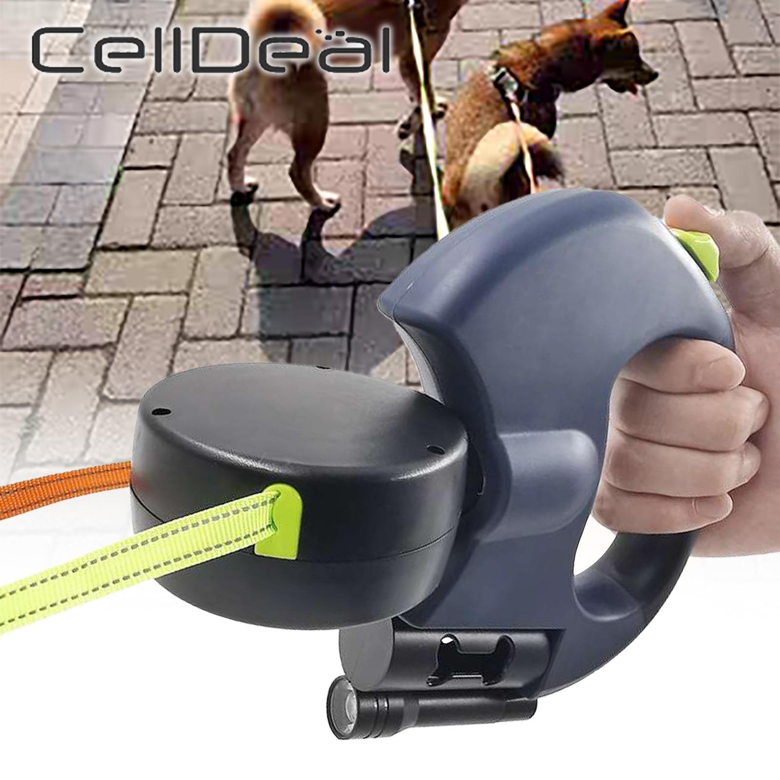 2 Color Retractable Dual Double Pet Leash Rope Zero Tangle Walk For Two Dog Walk The Dog Adjustable Pet Leash Pet Supplies