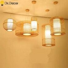Southeast Asian Classic Wood Pendant Lights Vinatge Living Room Hotel Hall Pendant Lamp Bedroom Hanging Lamps Kitchen Fixtures