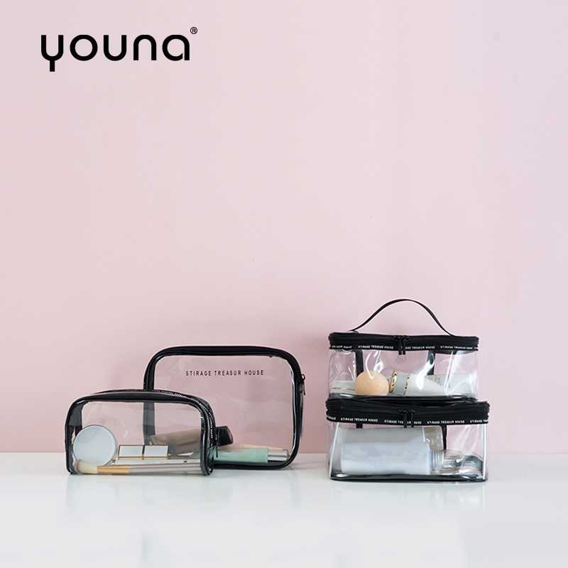 PVC Klar Kosmetische Reisetasche Wasserdichte Kultur Wash Bag Make-Up Lagerung Für Toilettenartikel Zubehör Business Bad Veranstalter