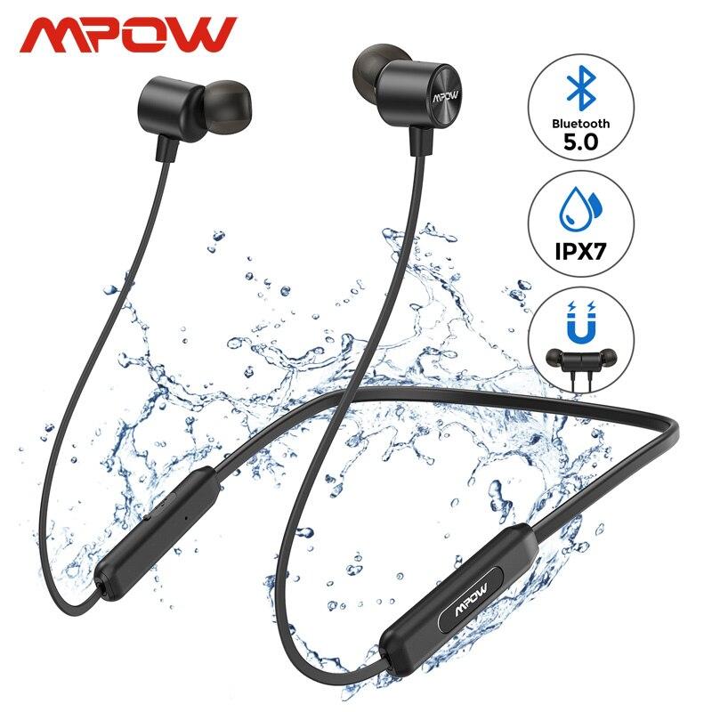 Mpow A7 Bluetooth 5,0 auriculares inalámbricos para el cuello iPX7 auriculares deportivos impermeables 10h tiempo de juego para iPhone Xiaomi Huawei Samsung Protector Huawei P8 Lite 2017 Dorado Completo 3D Cristal Templado de Pantalla