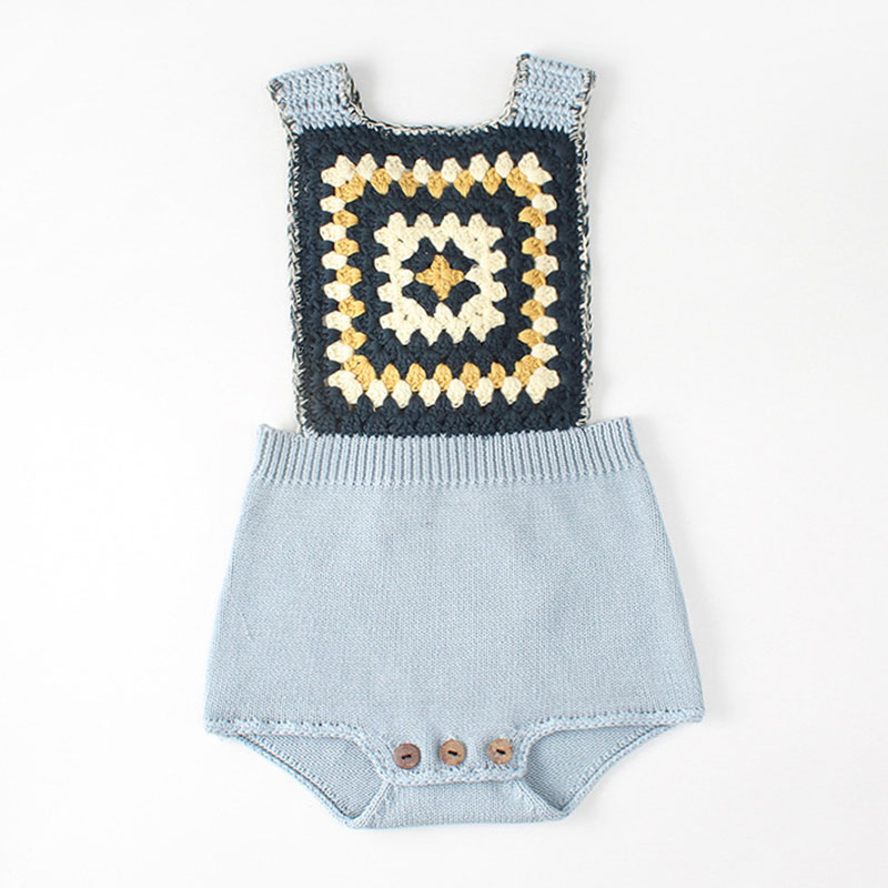 New 2020 Spring Autumn Baby Boys Girls Rompers Baby Clothes Rompers Knit Braces Rompers Infant Boys Girls Bodysuit image