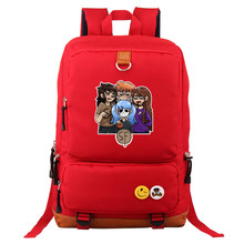 Sally face backpack School Bags Canvas Travel Shoulder Bag Laptop Students Backpack for Men and Women(China)