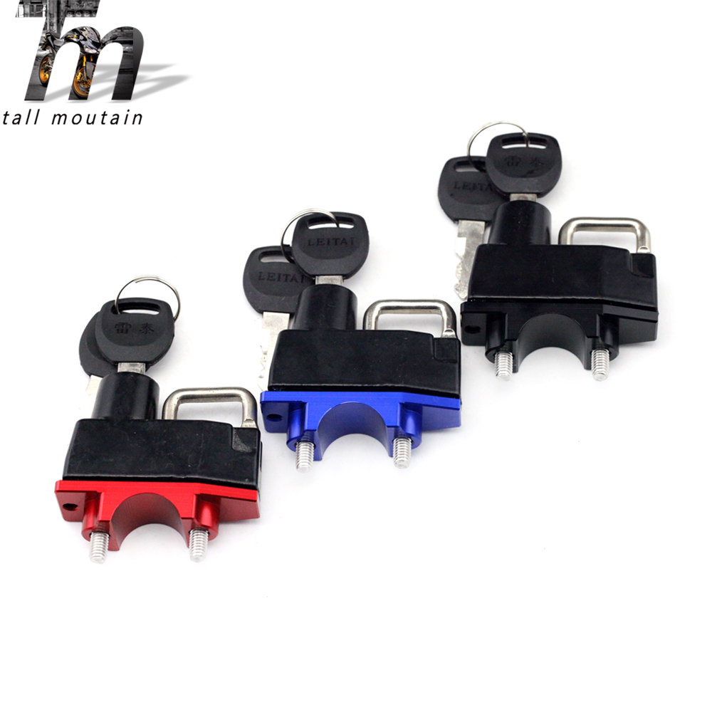 Helmet Lock Handlebar Clamp For YAMAHA YFM 350/400/450/530/550/600/700 KODIAK/GRIZZLY XT 225/660R/660X/1200Z TTR 250 TW 200