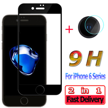 2 in 1 Screen Protector for iPhone 6 S Plus 6Plus Tempered Glass for iPhone 6S Plus Anti-shock Camera Lens for iPhone 6 Glass аксессуар защита камеры apres metal ring lens protector для iphone 6 plus 6s plus black