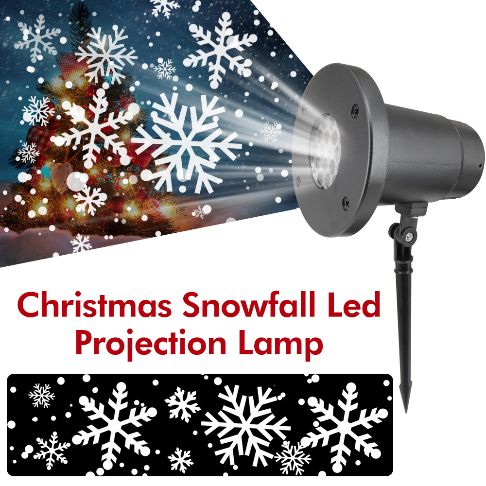 Xmas Snowflake Projector Laser Light Super Bright Christmas Led Lights Snowflake LED Projection Lamp Waterproof Landscape Decor