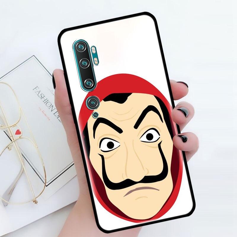 La Casa De Papel TV Case For Xiaomi Mi Note 10 9 CC9 9T Pro 5G CC9E 8 A3 A2 Lite X2 F1 Black Soft Bags Phone Cover