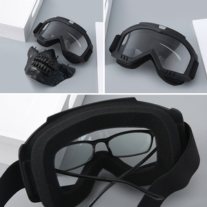 Image 4 - חיצוני טקטי ציד מסכת Full Face מגן ירי Airsoft מסכה עם משקפי עבור פיינטבול צבאי Combat גולגולת מסכות