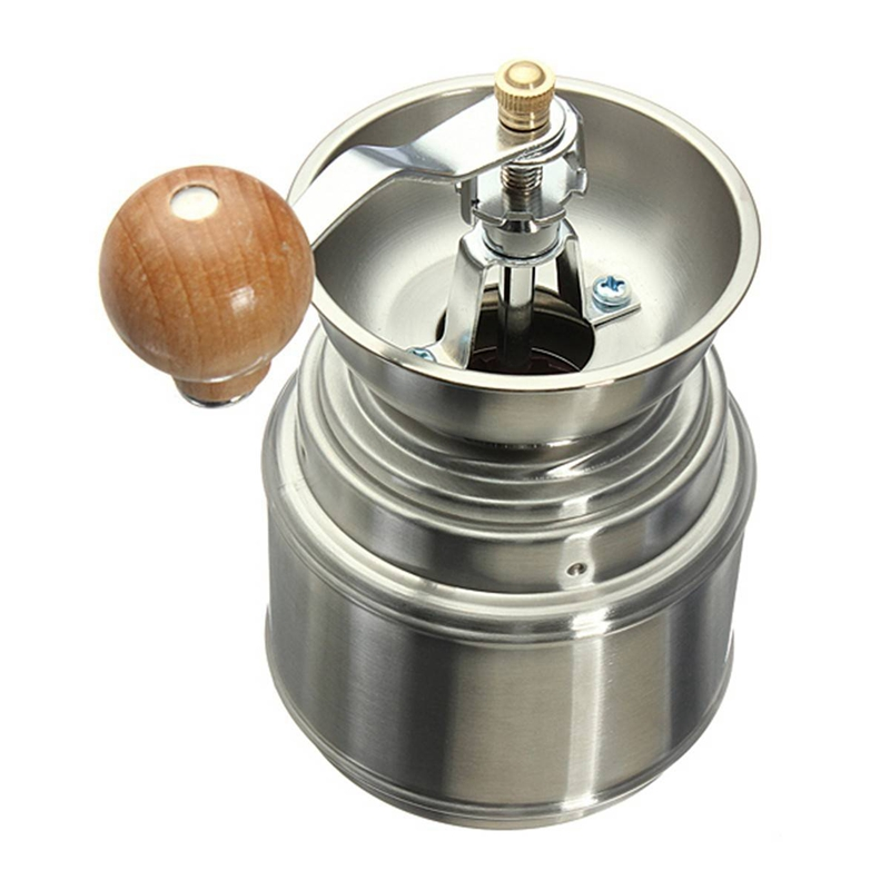 Stainless Steel Manual Spice Bean Coffee Grinder Burr Grinder Mill With Ceramic Core
