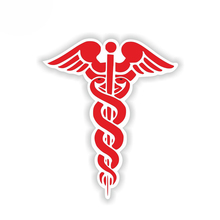 цена на Car Sticker Fashion Funny Red CADUCEUS Automobiles Motorcycles Exterior Accessories Cover Scratches Vinyl Decal,13cm*10cm