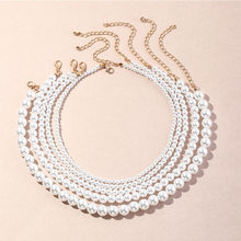 Vintage Style Simple 6MM Pearl Chain Choker Necklace For Women Wedding Love Shell Pendant Necklace Fashion Jewelry Wholesale