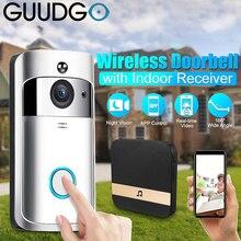 GUUDGO Wifi Video inteligente timbre Cámara inteligente timbre visión de noche de almacenamiento en la nube de seguridad de la puerta de casa inteligente