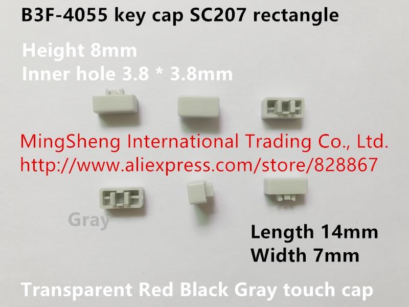 Original New 100% B3F-4055 Key Cap SC207 Rectangle Transparent Red Black Gray Touch Cap