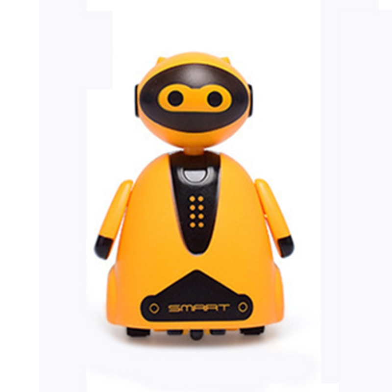 Inductive Electric Robot with LED Light Auto-Induction Car Follows Black Line Novelty Track Vehicle Toys for Children