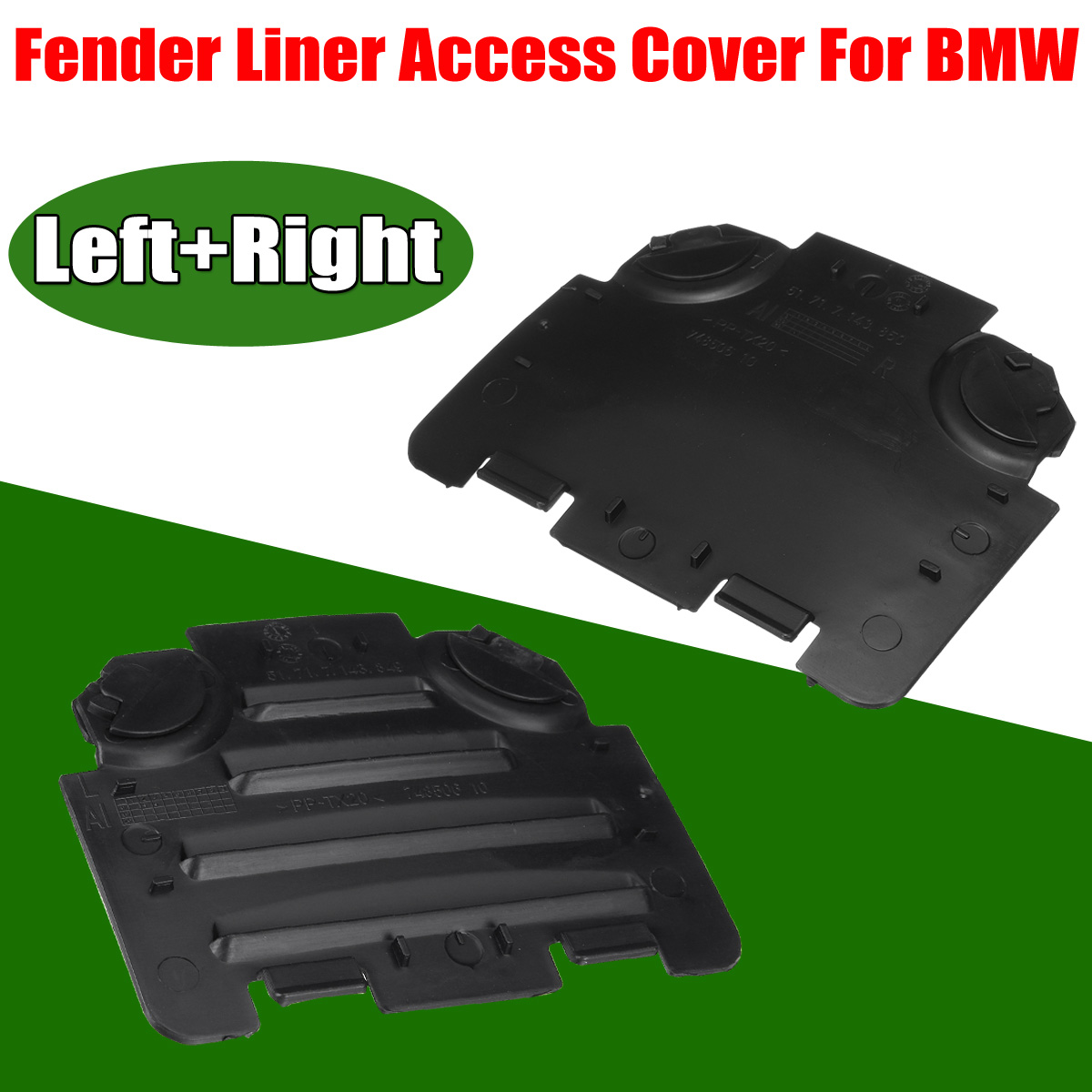 Car Left/Right Front For Fender Liner Access Cover Trim For <font><b>BMW</b></font> <font><b>E82</b></font> E88 E90 E91 <font><b>135i</b></font> 325i 51717143849 51717143850 image