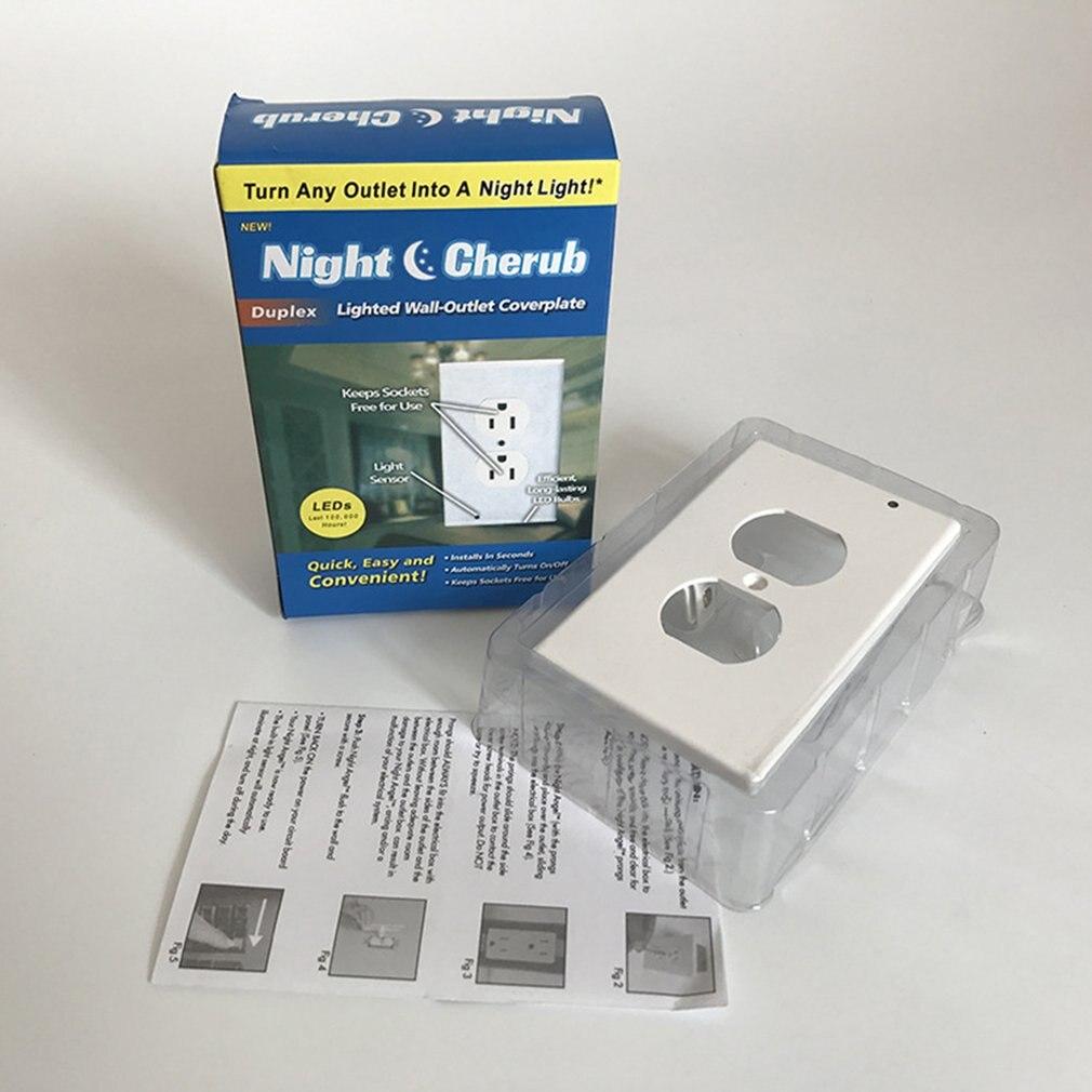 LED Sensor Light Switch Panel Opp Bag Night Light Angel  Switch LED Lamp Sensor
