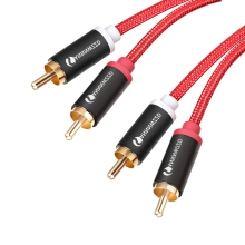 2RCA to 2RCA Audio Cable Gold-Plated 2 RCA Male to Male Audio Cable 1m 2m 3m 5m for TV Amplifier Subwoofer Soundbar Speaker double rca male to 2 rca male audio cable for players cd dvd tv amplifier speaker stereo sound systems 2 rca av line 1m 2m 3m 5m