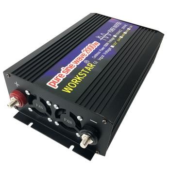 цена на WORKSTAR Peak 2000W Pure Sine Wave OFF Grid DC/AC Inverter DC12V/24V to AC220V 50HZ/60HZ Power Inverter for Solar System