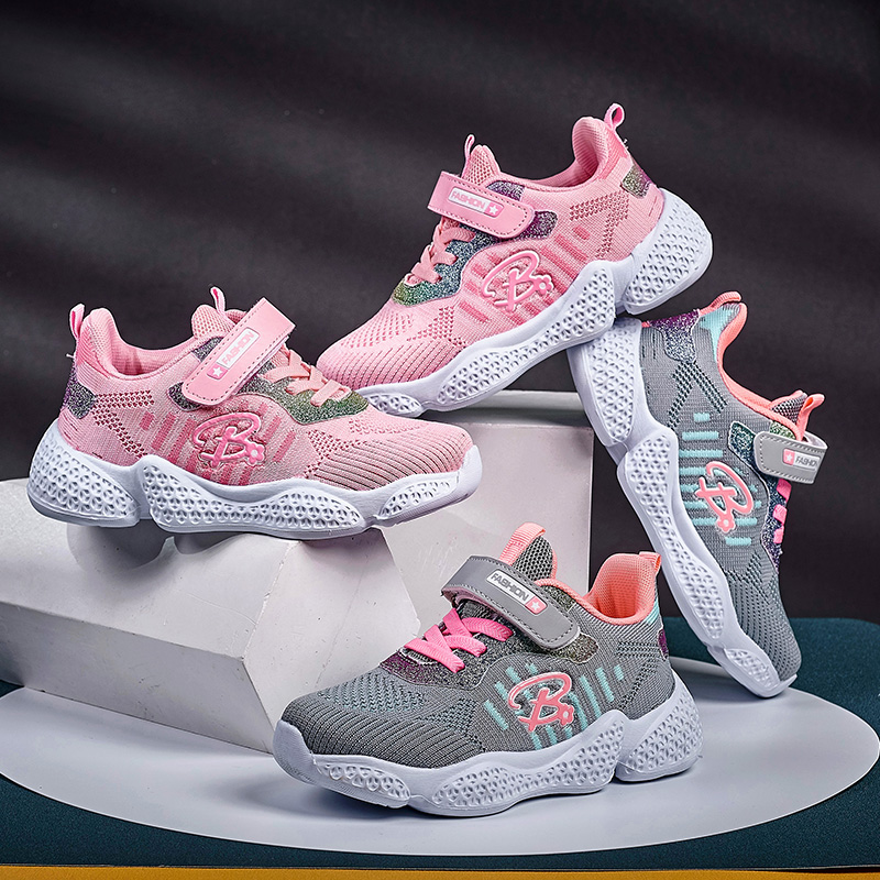 Little Girls Sport Shoes Size EUR26 37 Kids Girl Scool Running Trainers  Pink Gray Fitness Shoes Athletic Child Sport Running Running Shoes  -  AliExpress