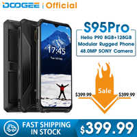 IP68/IP69K DOOGEE S95 Pro Modular Rugged Mobile Phone 6.3inch Display 5150mAh Helio P90 Octa Core 8GB 128GB 48MP Cam Android 9