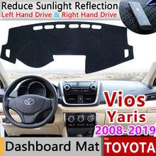for Toyota Vios Yaris Belta Soluna 2008~2019 XP90 XP150 Anti-Slip Mat Dashboard Cover Pad Sunshade Dashmat Car Accessories rug(China)