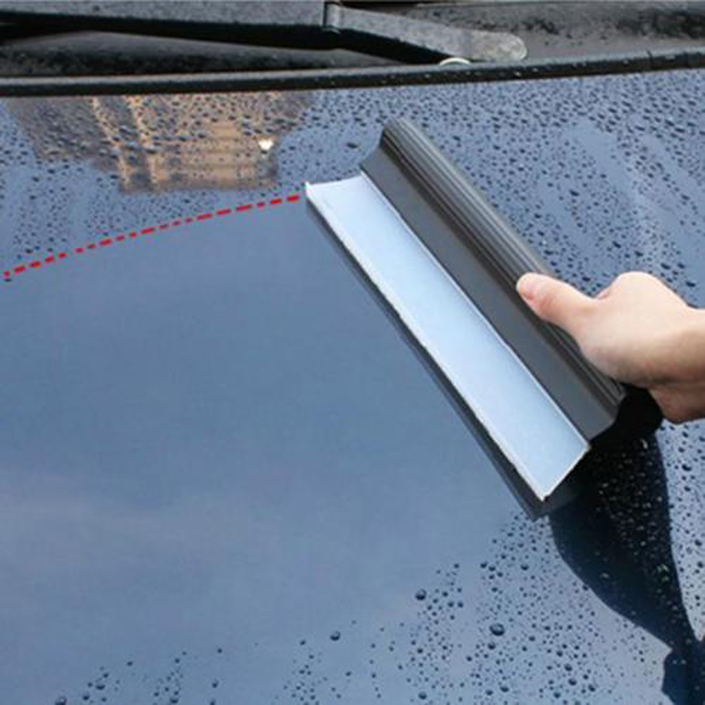 Flexible Soft Silicone Wiper Car Window Cleaning Glass Scraper  Silicone Handy Squeegee Car  Blade Clean Scraping Film Scraper