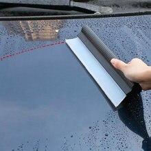 Silicona blanda Flexible limpiaparabrisas coche ventana Limpieza de espátula de silicona a mano escobilla de goma auto hoja limpia raspado película raspador