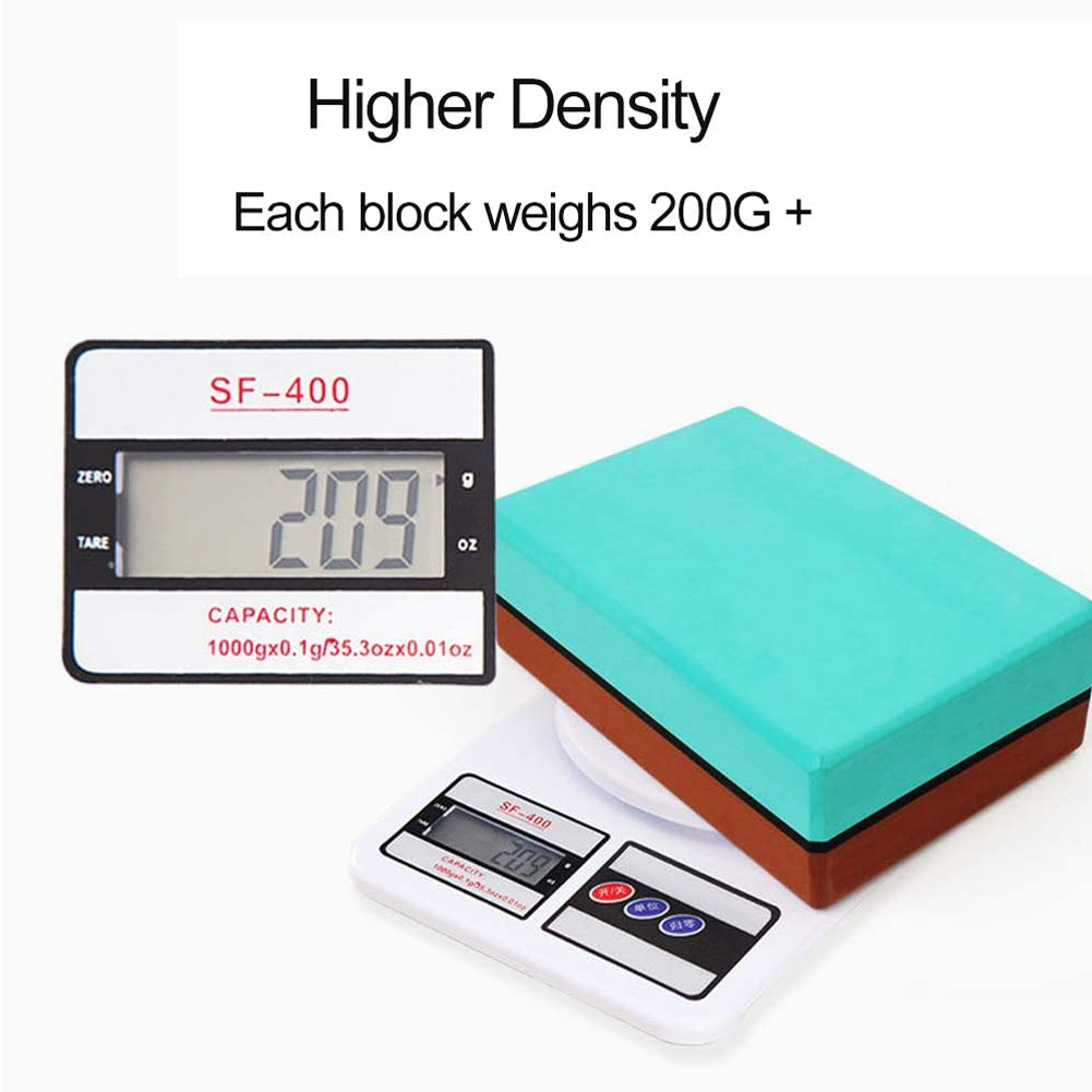 1pc Exercise Fitness Pilates EVA Foam Stretch Aid Bodybuilding High Density Yoga Block Biodegradable Core Training Double Color