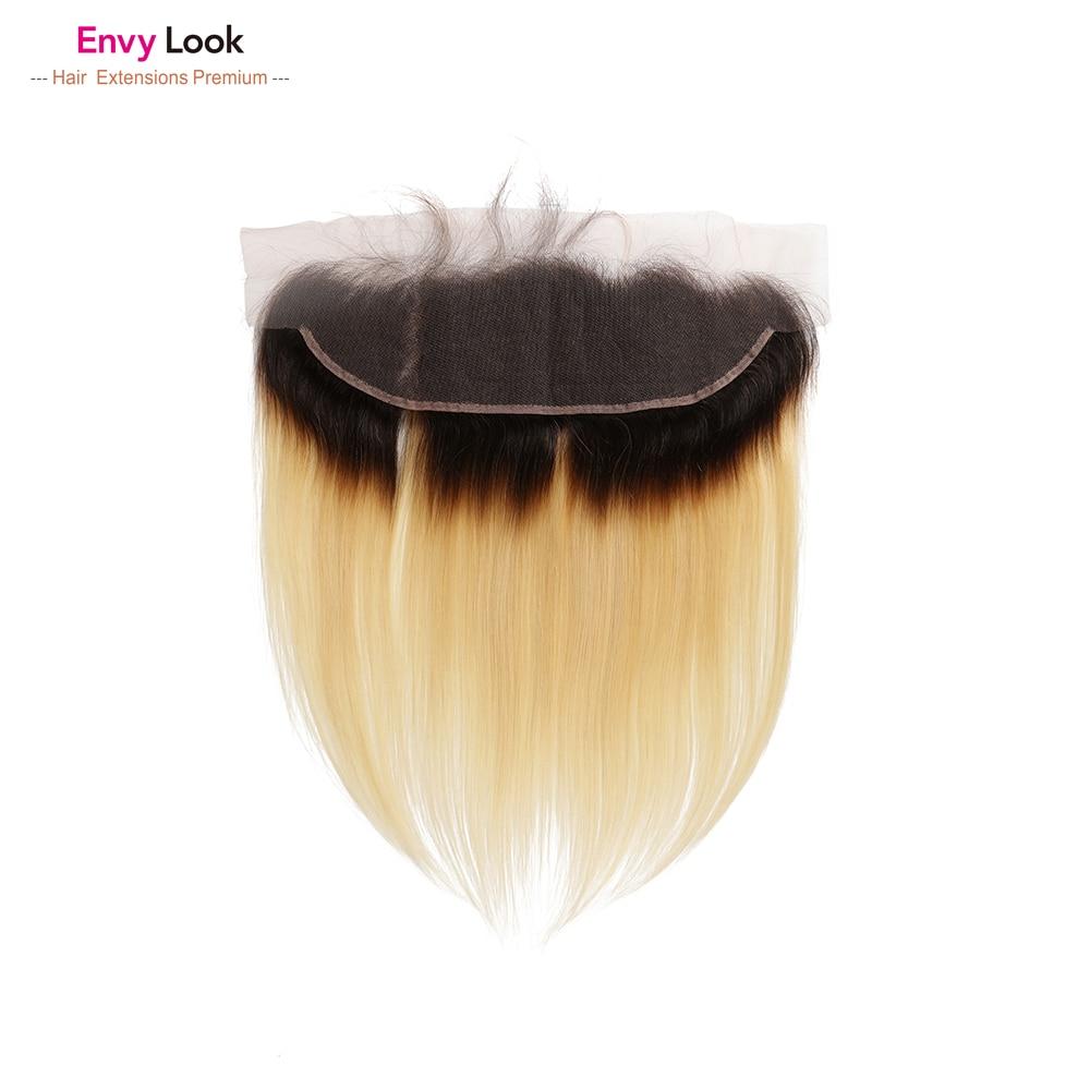 Envy bak Ombre 1b 613 13*4 düz dantel frontal kapatma brezilyalı saç 100% insan olmayan remy saç siyah kadın için salon