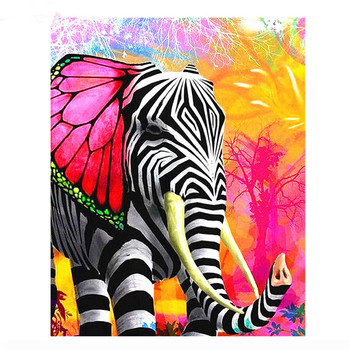 5D DIY Diamond Painting Full round/square Drill Mosaic Diamond Cross Stitch Animal Elephant 3D Embroidery Home Decorative M242 image