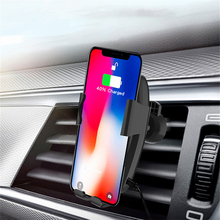 Car Phone Holder Fast Charging Wireless Chargers Mobile Bracket for Smartphone GV99