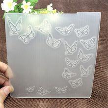 Borboleta impressão plástico gravando massas parágrafo diy papel scrapbooking diy artesanato/cartão opaco faz suprimentos de decoração