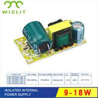 Transformadores incorporados 9-18 w da iluminação transformadores para a tensão de entrada interna 100-240 v da fonte de alimentação do diodo emissor de luz tensão de saída 30-80 v