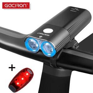 Gaciron luz da bicicleta farol ipx6 usb lanterna led flash frente lâmpada V9C-400 V9F-600 V9C-800 V9S-1000 V9D-1600 V9D-1800