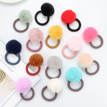 Cute Imitation water ball hair ring female rubber band elastic hair bands Korean headwear children hair Accessories ornaments smkj e1hq christmas colored hair ball decorative snowman ornaments 10 pcs
