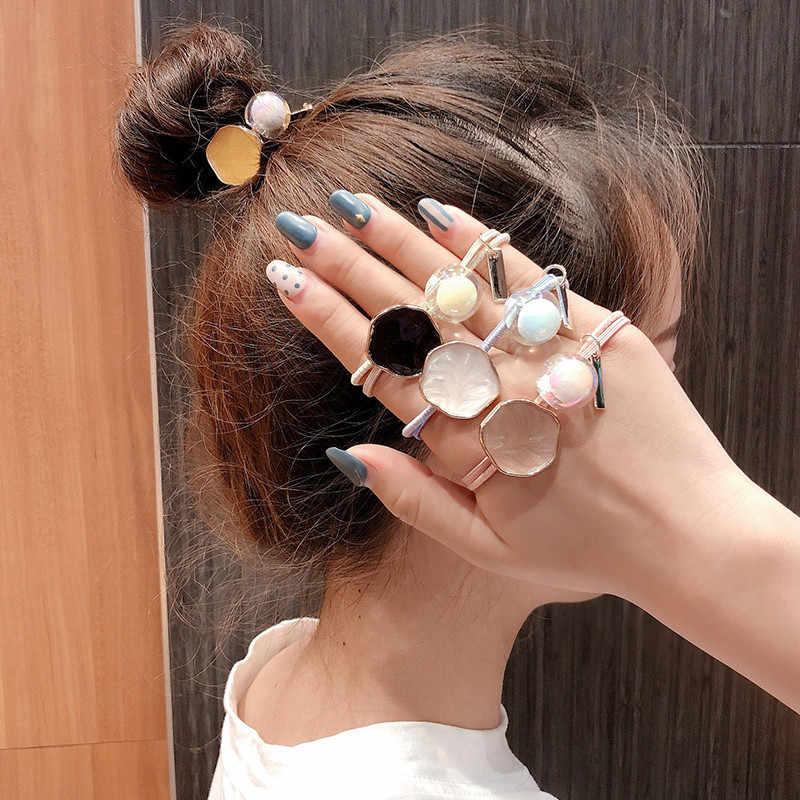 Lazos de pelo redondo de colores de caramelo dulce para chicas y chicas, sujetadores de coleta, accesorios para el cabello elásticos Hiarband
