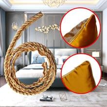 1 m estilo europeu almofada travesseiro acessórios de renda corda de rolamento decoração de ouro quatro cordas corda 1 metro torção amarrada largura 7mm corda