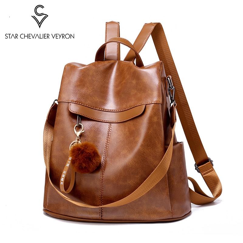 Women/'s Vintage Plaid Anti-Theft Shoulder Mini Leather Travel Bag Backpack