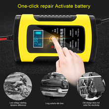 1PC 12V 6A Full Automatic Car Battery Charger Power Pulse Repair Chargers Wet Dry Lead Acid Battery-chargers Digital LCD Display 12v 6a diesel genset automatic battery charger lbc1206