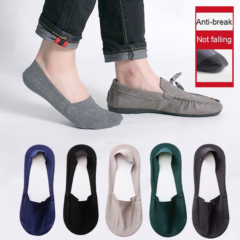 1 Pair Men Cotton Socks Casual Short Breathable Boat Socks Summer Sports Silicone Non-slip Sock C55