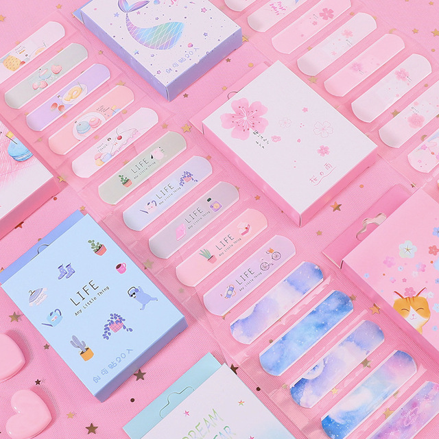 20 Pcs/lot Lovely Cute Band Aid Disposable Wound sticker kawaii First Aid Emergency Kit For Kids Children Adhesive Bandages home