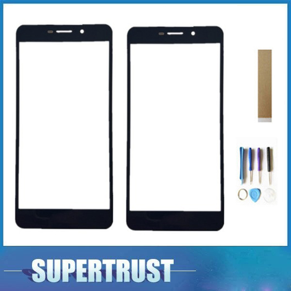 For Dexp G250 Touch Screen Digitizer Front Glass Lens Black White Color With Tape Tools