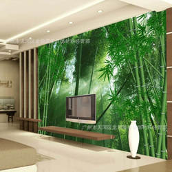 Зеленый сад zhu lin feng 3D Фреска телевизор диван Настенные обои Ресторан спальня бамбуковые нетканые обои
