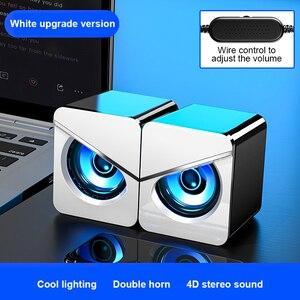 Компьютерная Колонка Usb Проводная настольная игровая аудиосистема 4D стерео музыка объемный Громкий динамик для ПК ноутбука мобильный теле...