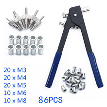 86x Threaded Nut Rivet M3-M8 Insert Wrench Repair Furniture Tool For Workshop